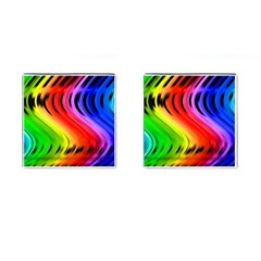 Colorful Vertical Lines Cufflinks (Square)