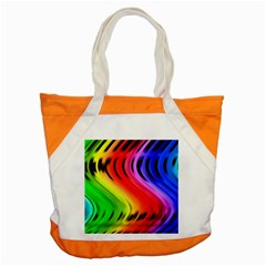 Colorful Vertical Lines Accent Tote Bag