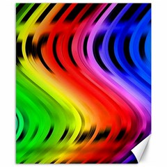 Colorful Vertical Lines Canvas 8  x 10