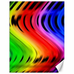 Colorful Vertical Lines Canvas 12  x 16