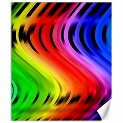 Colorful Vertical Lines Canvas 20  X 24