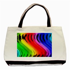 Colorful Vertical Lines Basic Tote Bag (Two Sides)