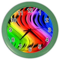 Colorful Vertical Lines Color Wall Clocks