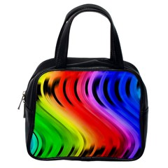 Colorful Vertical Lines Classic Handbags (one Side)
