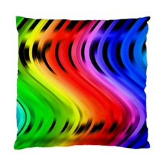 Colorful Vertical Lines Standard Cushion Case (two Sides)