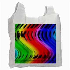 Colorful Vertical Lines Recycle Bag (One Side)