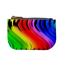 Colorful Vertical Lines Mini Coin Purses