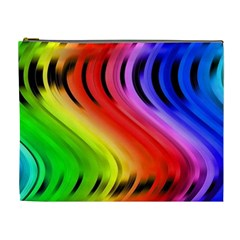 Colorful Vertical Lines Cosmetic Bag (xl)