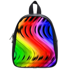Colorful Vertical Lines School Bags (Small)