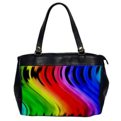 Colorful Vertical Lines Office Handbags
