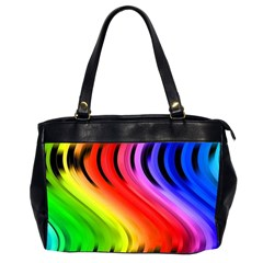 Colorful Vertical Lines Office Handbags (2 Sides)