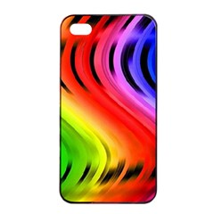 Colorful Vertical Lines Apple iPhone 4/4s Seamless Case (Black)