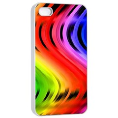 Colorful Vertical Lines Apple Iphone 4/4s Seamless Case (white)