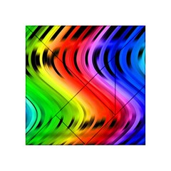 Colorful Vertical Lines Acrylic Tangram Puzzle (4  x 4 )