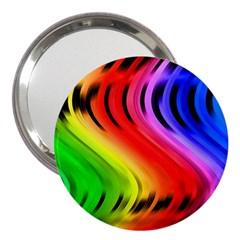 Colorful Vertical Lines 3  Handbag Mirrors