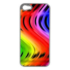 Colorful Vertical Lines Apple iPhone 5 Case (Silver)