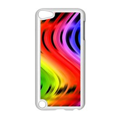 Colorful Vertical Lines Apple iPod Touch 5 Case (White)
