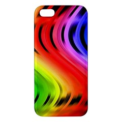Colorful Vertical Lines Apple iPhone 5 Premium Hardshell Case