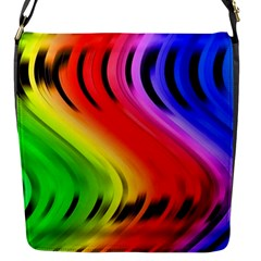 Colorful Vertical Lines Flap Messenger Bag (S)