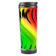 Colorful Vertical Lines Travel Tumbler