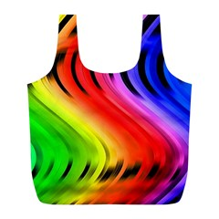 Colorful Vertical Lines Full Print Recycle Bags (l)