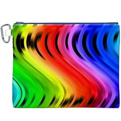 Colorful Vertical Lines Canvas Cosmetic Bag (xxxl)