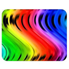Colorful Vertical Lines Double Sided Flano Blanket (medium)