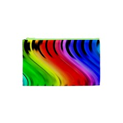 Colorful Vertical Lines Cosmetic Bag (XS)