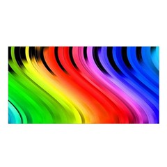 Colorful Vertical Lines Satin Shawl