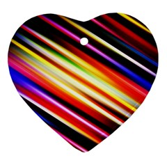 Funky Color Lines Ornament (heart)