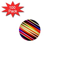 Funky Color Lines 1  Mini Magnets (100 Pack)