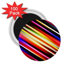 Funky Color Lines 2 25  Magnets (100 Pack)