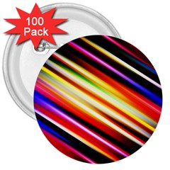 Funky Color Lines 3  Buttons (100 pack)
