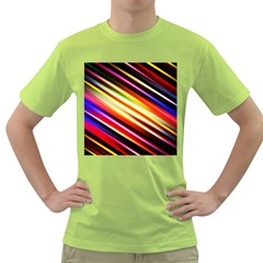 Funky Color Lines Green T Shirt