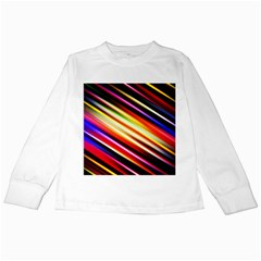 Funky Color Lines Kids Long Sleeve T-Shirts