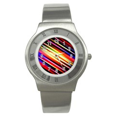 Funky Color Lines Stainless Steel Watch
