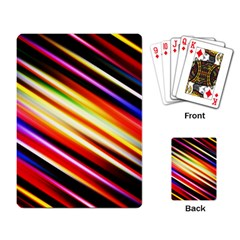 Funky Color Lines Playing Card