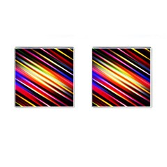 Funky Color Lines Cufflinks (Square)