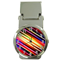 Funky Color Lines Money Clip Watches