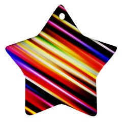 Funky Color Lines Star Ornament (Two Sides)