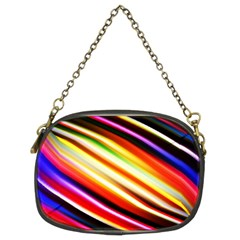 Funky Color Lines Chain Purses (two Sides)