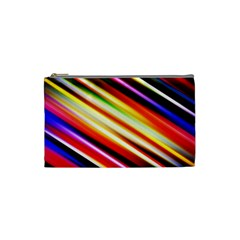 Funky Color Lines Cosmetic Bag (Small)