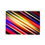 Funky Color Lines Cosmetic Bag (Large)  Front