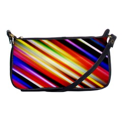 Funky Color Lines Shoulder Clutch Bags