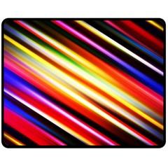 Funky Color Lines Fleece Blanket (Medium)