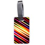 Funky Color Lines Luggage Tags (One Side)  Front