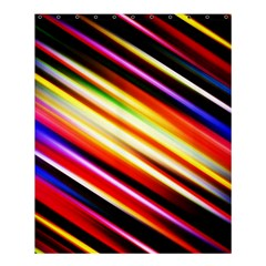 Funky Color Lines Shower Curtain 60  X 72  (medium)