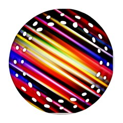 Funky Color Lines Ornament (Round Filigree)