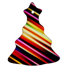 Funky Color Lines Ornament (christmas Tree)