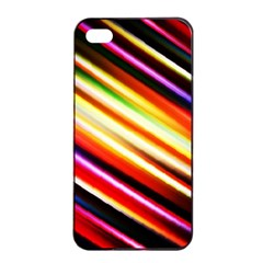 Funky Color Lines Apple Iphone 4/4s Seamless Case (black)